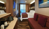 Aft-Facing Mini-Suite w/Balcony